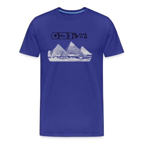 Pyramiden von Gizeh - Männer Premium T-Shirt