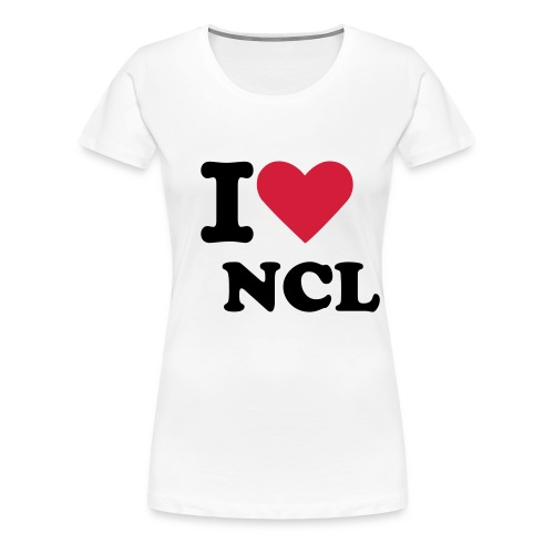 Womens I Love Newcastle Tee - Women's Premium T-Shirt