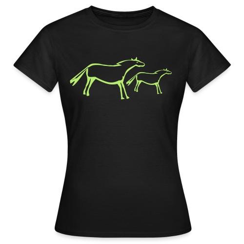 Pferdezeichnung - Frauen T-Shirt