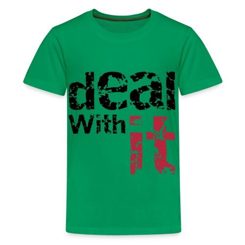 Deal With It - Premium T-skjorte for tenåringer