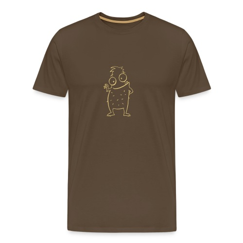 Monsta stachelig hell - Männer Premium T-Shirt