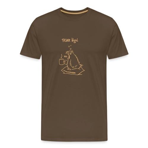 Früher Vogel - Männer Premium T-Shirt