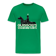 T-Shirts ~ Men's Premium T-Shirt ~ Glasgow's Green & White