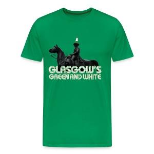 Glasgow's Green & White - Men's Premium T-Shirt