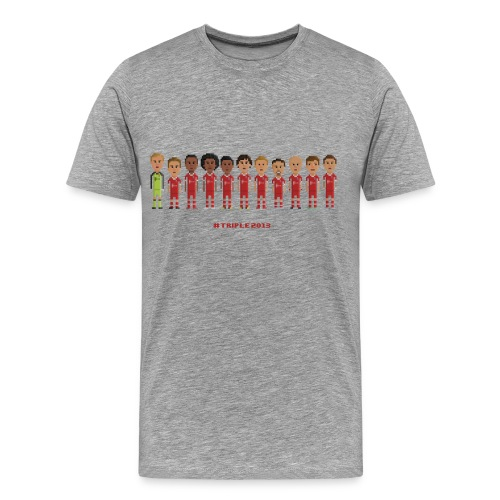 Men T-Shirt - Treble Champions 2013 - Men's Premium T-Shirt