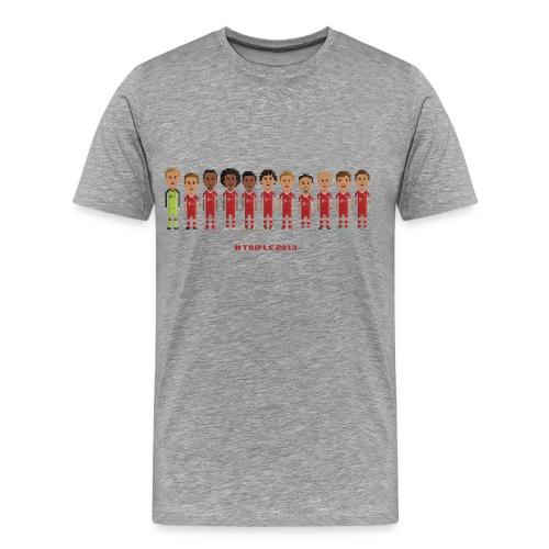 Men T-Shirt - Treble Champions 2013 - Men's Premium T-Shirt