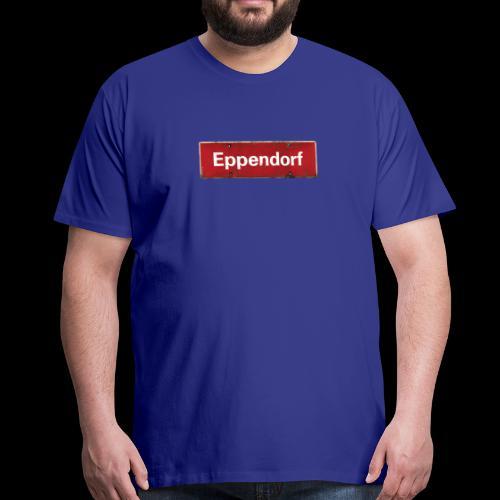 Mein Eppendorf, mein Kiez: Ortsschild rot Antik - Männer Premium T-Shirt
