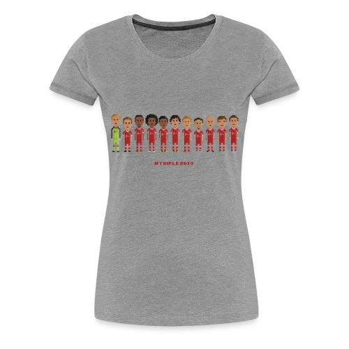 Women T-Shirt - Treble Champions 2013 - Women's Premium T-Shirt
