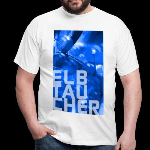 Elbtaucher Hamburg: Alter Elbtunnel mitLuftblasen - Männer T-Shirt