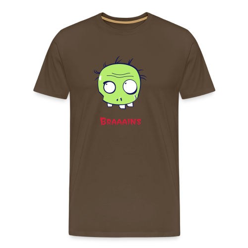 Zombie Brains - Men's Premium T-Shirt