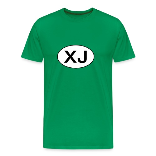 Jeep XJ Oval - Premium T-skjorte for menn