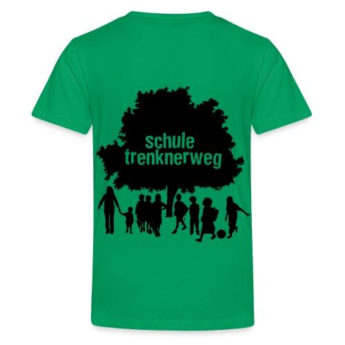 Grundschule Trenknerweg Logo - Schwarz - Rückseite - Teenager Premium T-Shirt