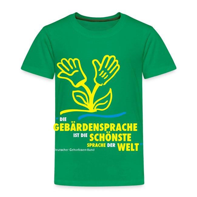 Kinder T-Shirt (DGS schönste Sprache)
