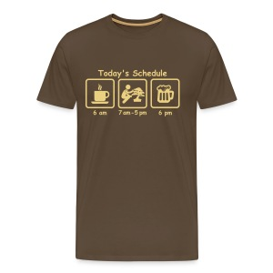 T-Shirt Homme Picto Today's Schedule - T-shirt Premium Homme