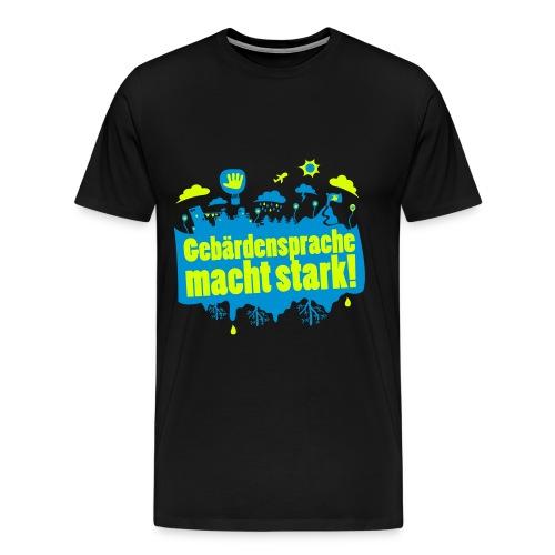 DGS macht stark (Übergröße Männer) - Männer Premium T-Shirt