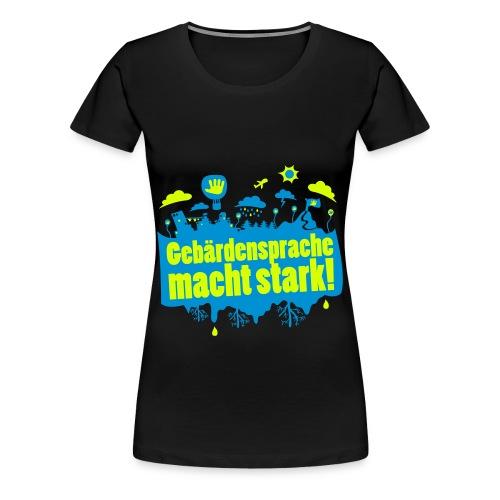 DGS macht stark (Übergröße) - Frauen Premium T-Shirt