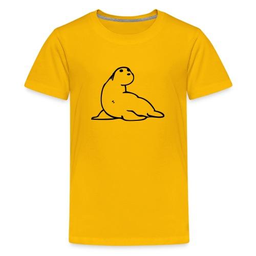 Moses + ryggtryck i svart - Premium-T-shirt tonåring