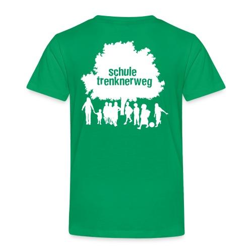 T-Shirt Logo - Weiß- Rückseite - Kinder Premium T-Shirt