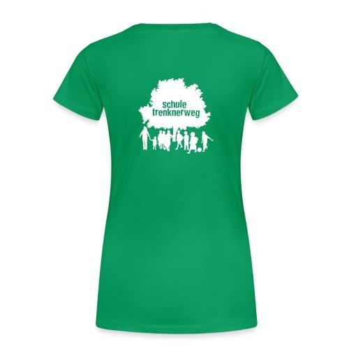Grundschule Trenknerweg Logo - Weiss - Rückseite - Frauen Premium T-Shirt