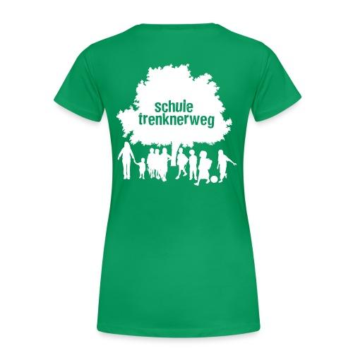 Grundschule Trenknerweg Logo - Schwarz - Rückseite - Frauen Premium T-Shirt