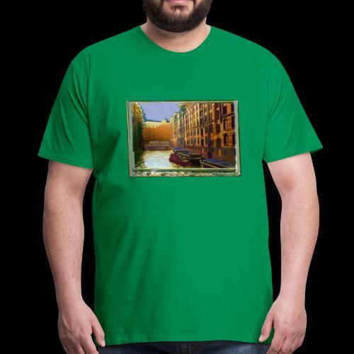 Männer-Shirt: Hamburger Speicherstadt | Künstler Motiv - Männer Premium T-Shirt