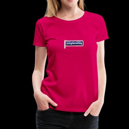 Hamburg: Jungfernstieg, vintage Straßen-Schild - Frauen Premium T-Shirt