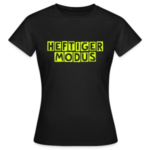HEFTIGER MODUS-Shirt Girly yellow, BC-Logo back white - Frauen T-Shirt