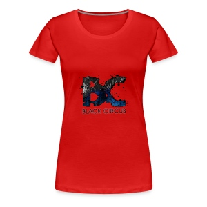 BC-Shirt Girly, Logo front blue, Logo back white - Frauen Premium T-Shirt
