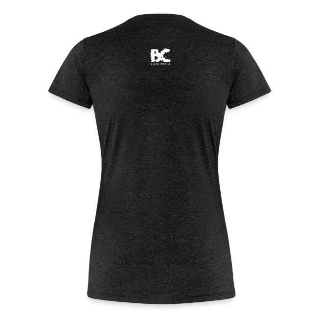 BC-Shirt Girly, Logo front blue, Logo back white