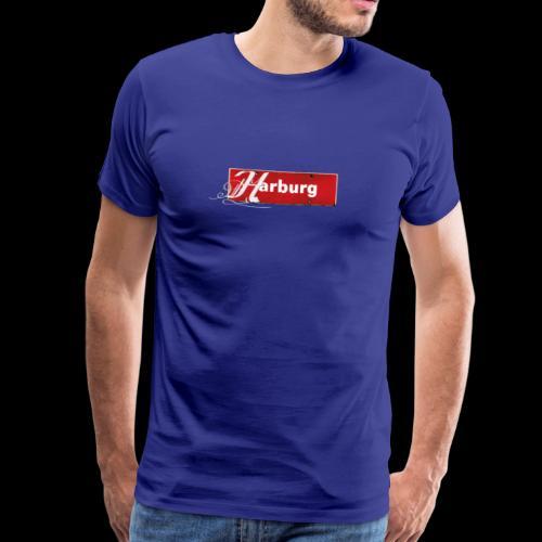Herren T-Shirt: Hamburg-Harburg Schild mit Tattoo-Initial  - Männer Premium T-Shirt