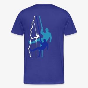 Drei Abseiler (men) - Männer Premium T-Shirt