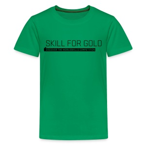 Skill for Gold Teenager T-Shirt - Teenage Premium T-Shirt
