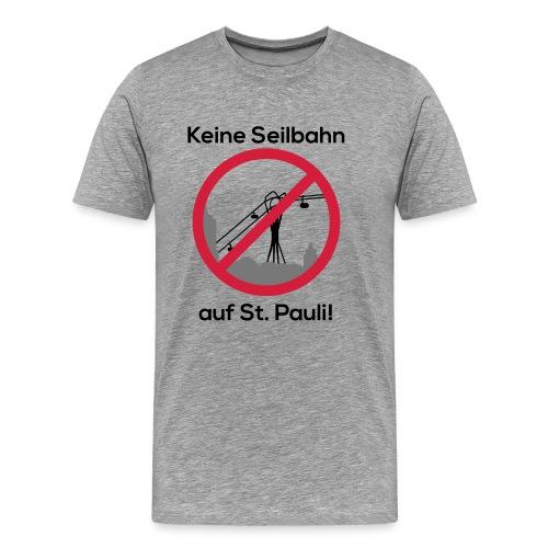 Keine Seilbahn - Männer T-Shirt grau - Männer Premium T-Shirt