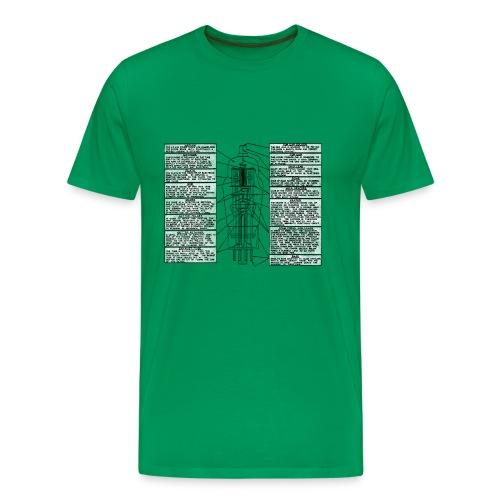 Röhre mit Legende - Männer Premium T-Shirt