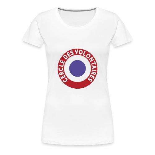 T-SHIRT premium femme cercle des volontaires - T-shirt Premium Femme