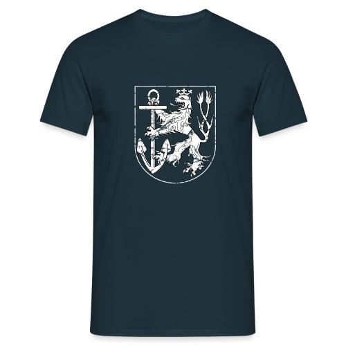 Düsseldorfer Wappen weiß Used - Männer T-Shirt