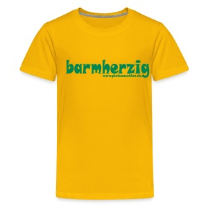 barmherzig Kinder T-Shirt gelb - Teenager Premium T-Shirt
