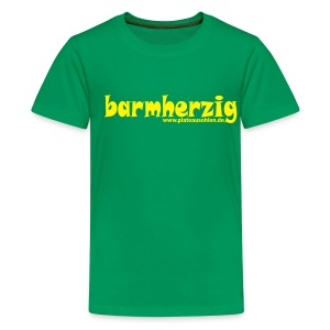 barmherzig Kinder T-Shirt grün - Teenager Premium T-Shirt