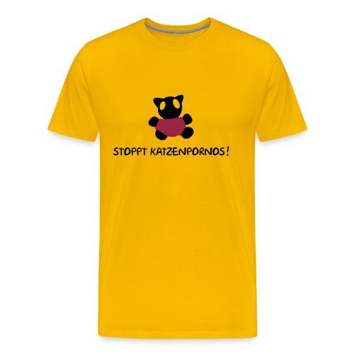 Katzenporno Gelb - Männer Premium T-Shirt