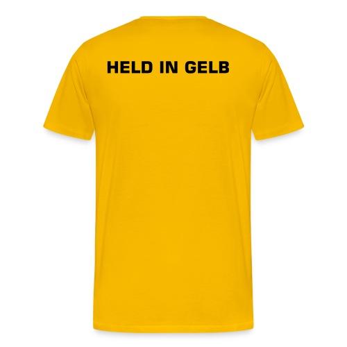 HELD IN GELB - Männer Premium T-Shirt