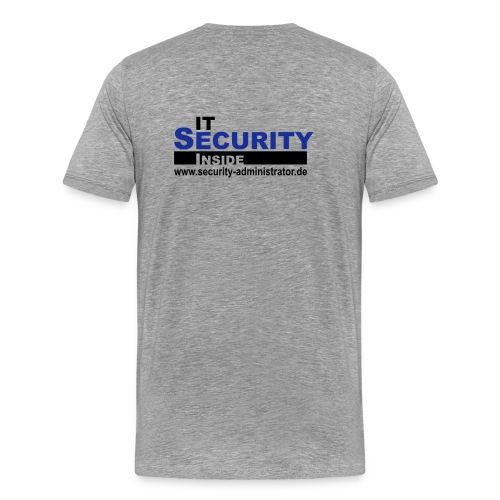 IT Security Inside Grey - Männer Premium T-Shirt