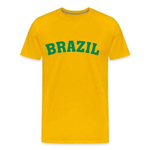 T-Shirt Brazil gelb/grün - Männer Premium T-Shirt