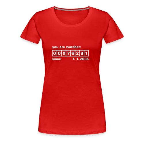 Counter Rot Weiss - Frauen Premium T-Shirt