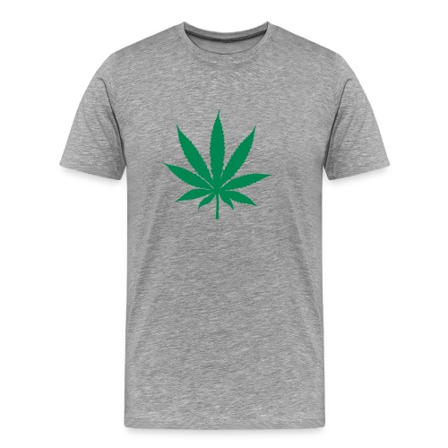 T-shirt Cannabis - grey - Men's Premium T-Shirt