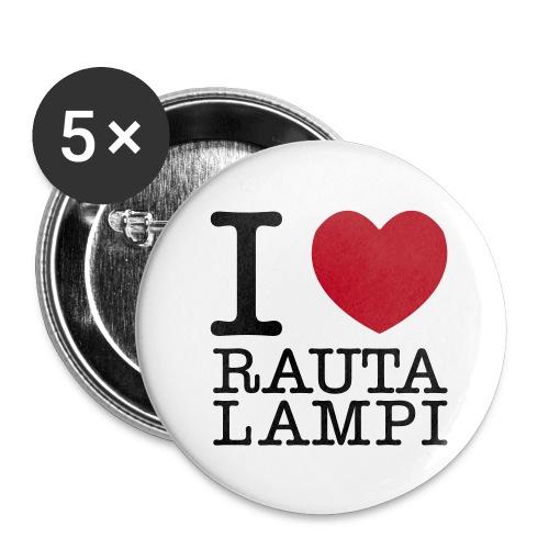 I love Rautalampi -pinssit - Rintamerkit keskikokoiset 32 mm (5kpl pakkauksessa)