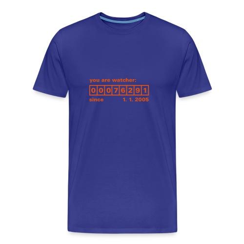 Counter Blau Rot - Männer Premium T-Shirt