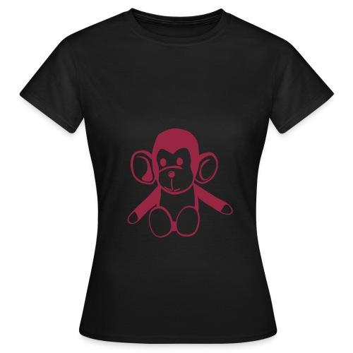Tee-shirt olive / singe - T-shirt Femme