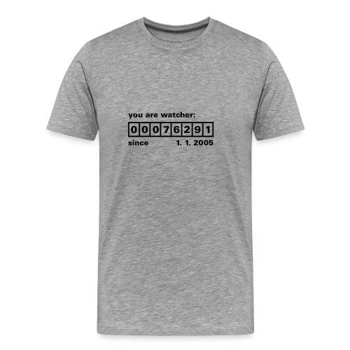 Counter Grau Schwarz - Männer Premium T-Shirt