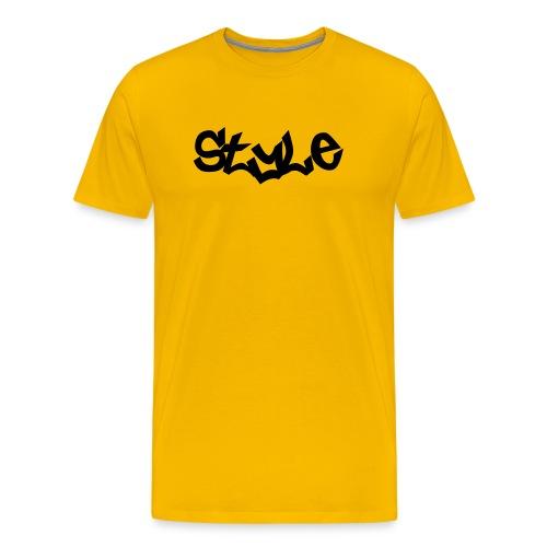 STYLE Yellow Tee - Men's Premium T-Shirt