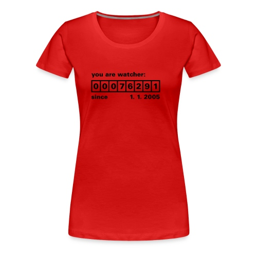 Besucherzähler - Frauen Premium T-Shirt